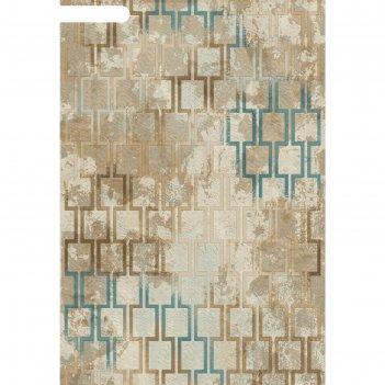 Ковёр хит-сет пп matrix d591, 2*2,9 м, прямоугольный, cream-blue