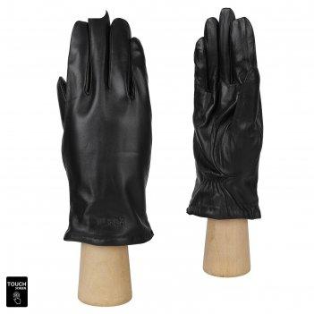Перчатки мужские натуральная кожа (размер 9) черный, touchscreen