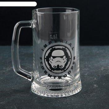 Кружка для пива star wars stormtrooper. ладья 500 мл 02с1008-54 дз stormtr