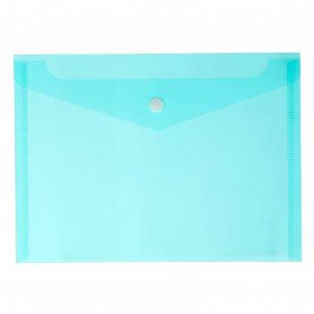 Папка-конверт на кнопке а5, 180 мкм calligrata, зелёная