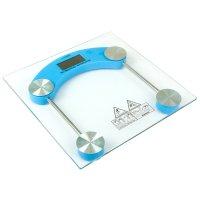 Весы luazon lve-003, напольные, электронные, до 180 кг, голубые