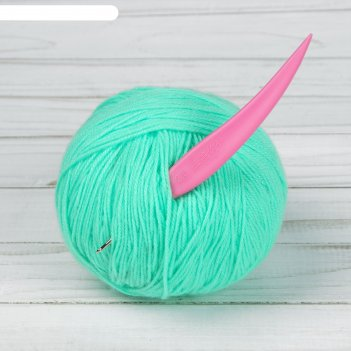 Крючок для вязания, d = 2 мм, 14 см, цвет розовый