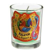 Свеча в стеклянном стаканчике удачи и везения