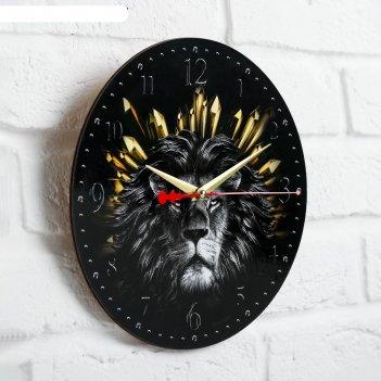 Часы дерево настенные лев