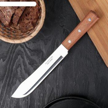 Нож для мяса tramontina universal, лезвие 20 см, сталь aisi 420, деревянна