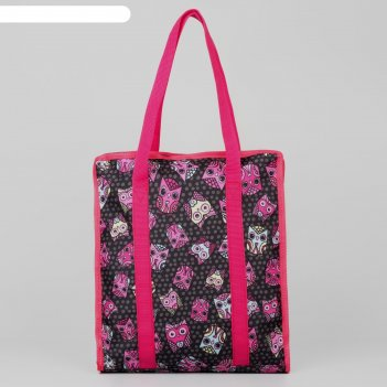 Сумка для рукоделия «розовые совушки», 35 x 30 x 7 см