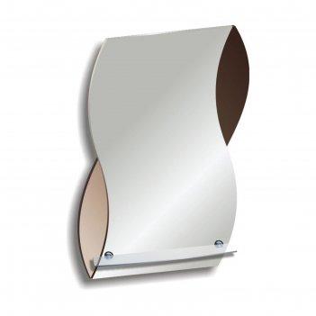 Зеркало «элегия», настенное, с полочкой, 51x63 см