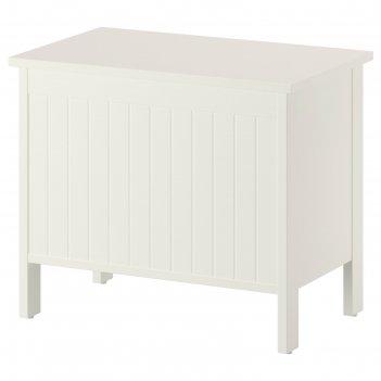 Скамья с ящиком для белья силверон, цвет белый