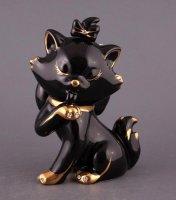 Фигурка котенок черный высота=18 см.
