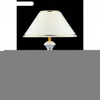 Настольная лампа lorenzo 1x60вт е27 белый 34x34x40см