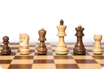 Фигуры шахматные российская классика, самшит и палисандр, король 7,6см