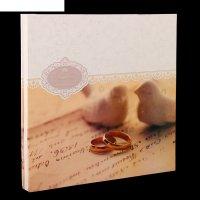 Фотоальбом магнитный 15 листов свадебный обручальные кольца 34х33х4,3 см