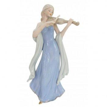 Фигурка декоративная девушка со скрипкой, l15 w11 h30 см