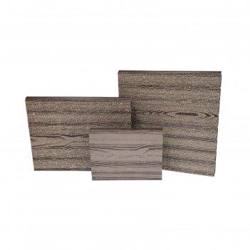 Ограждение для грядки, 100 x 3 x 30 см, дпк, фактура древесины