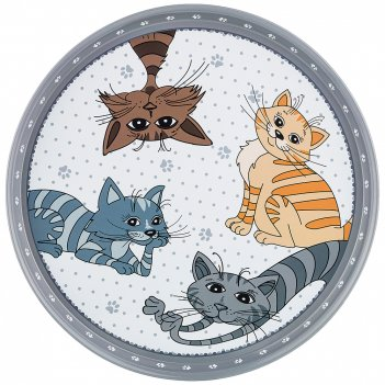 Поднос сервировочный agness озорные коты 33*2,1 см