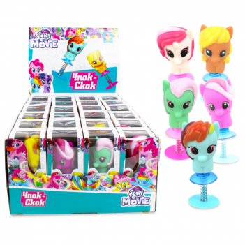 1toy игрушка-прыгун чпок-скок: my little pony, картон. коробка,  д/б 24 шт