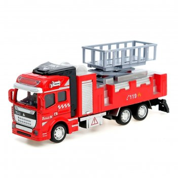 Машина металлическая «пожарная служба», инерционная, микс