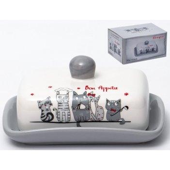 Масленка «коты-поварята» 12,5x16,5x8,5 см