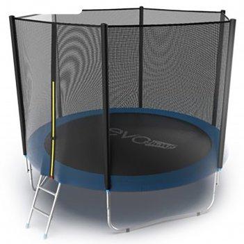 Батут с внешней сеткой и лестницей evo jump external, диаметр 10ft (305 см
