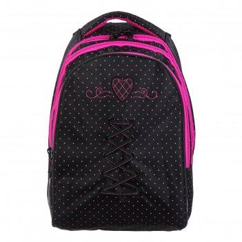 Рюкзак школьный hatber sreet 42 х 30 х 20, для девочки love + сумка-шоппер