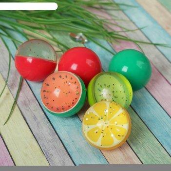 Мяч каучук фрукты 4,5 см, виды микс