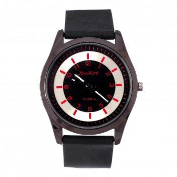 Часы наручные мужские карлайл, ремешок из экокожи, d=4.3 см