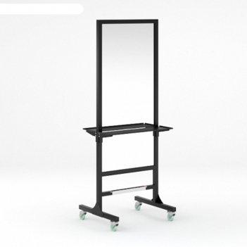 Мобильное парикмахерское зеркало modus, с блоком розеток, цвет чёрный