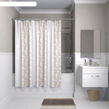 Штора для ванной комнаты iddis b14p118i11, 180x180 см, полиэстер