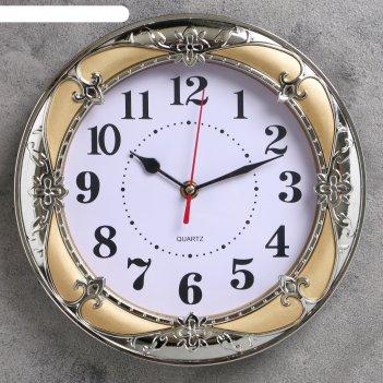 Часы настенные, серия: классика, ева 24х24 см, микс