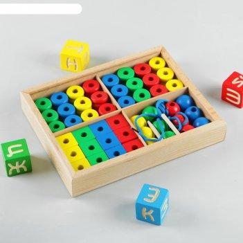 Дидактический набор в коробке, 48 деталей
