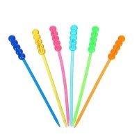 Шпажки для канапе фигурная палочка цвета микс (набор 24 шт)