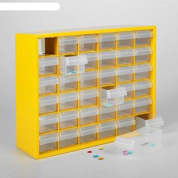 Бокс для хранения мелочей с выдвигающимися ячейками, (1 ячейка-12 x 5,5 см