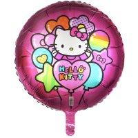 Шар фольгированный 18 hello kitty радуга