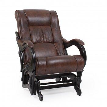 Кресло-качалка модель 78 венге/ экокожа антик крокодил