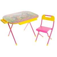 Набор детской мебели всезнайка. чипполино складной: стол, стул и пенал, цв
