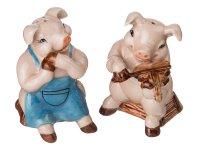 Набор из 2 шт. фигурок свинки- музыканты высота=...