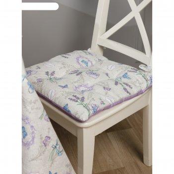 Подушка на стул квадратная, размер 42 x 42 см
