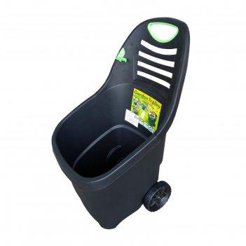 Садовая тележка черный/зеленый 65 л