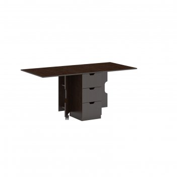 Стол-книжка ст-01 с 3 ящ, 360(1710)х805х750 венге/дуб девонширский