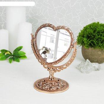Зеркало настольное «ажур», с увеличением, зеркальная поверхность — 10,5 x