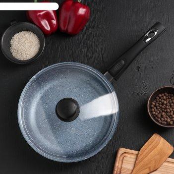 Сковородка «северное сияние», 24x6,5 см, с съёмной ручкой и стеклянной кры