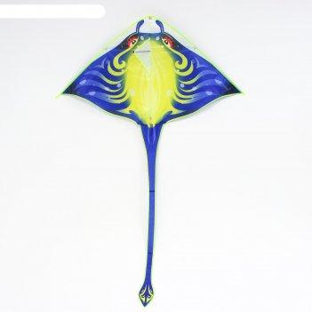 Воздушный змей скат с леской, цвета микс