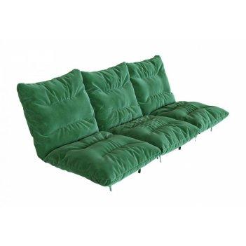 Комплект матрасов 2с3 для скамейки 1,8 - 2,0 м. зеленый (с)