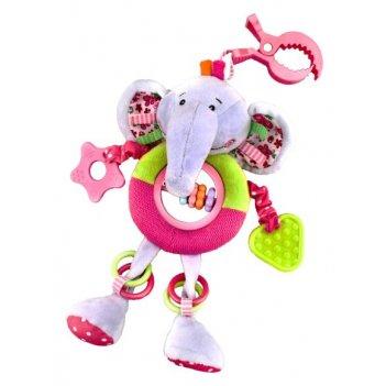 """Подвеска большая с прорезывателями и погремушками """"слонёнок тим"""""""