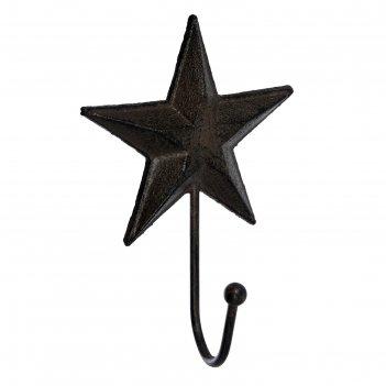 Крючок «звезда», 13 x 18 x 4,5 см, чугун