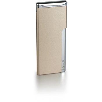 Зажигалка caseti газовая пьезо, хромированное покрытие + золот