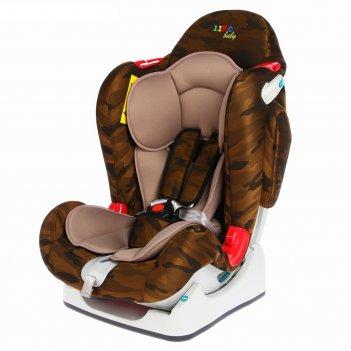 Автокресло liko baby lb 510 коричневый/камуфляж