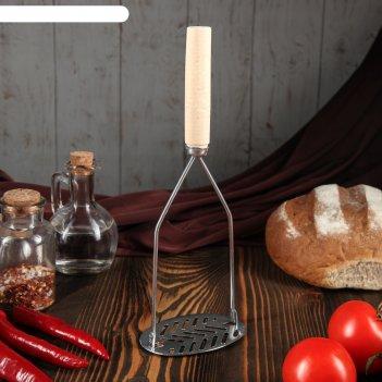 Толкушка с деревянной ручкой славянская, 26 см