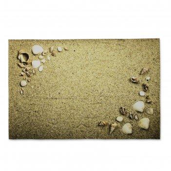 Ковер для ванной песчаный пляж