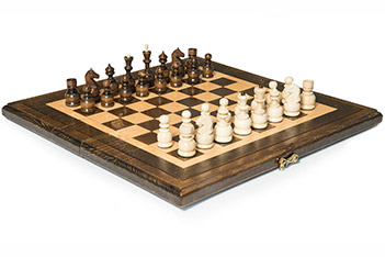 Шахматы + нарды резные 40, haleyan (40х40см)